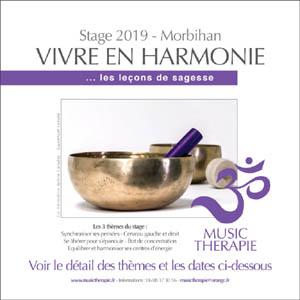 Stage «vivre en harmonie» le week-end du 16-17 mars